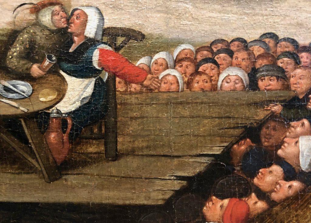 Cassel expo temps des Brueghel scène voyeurs