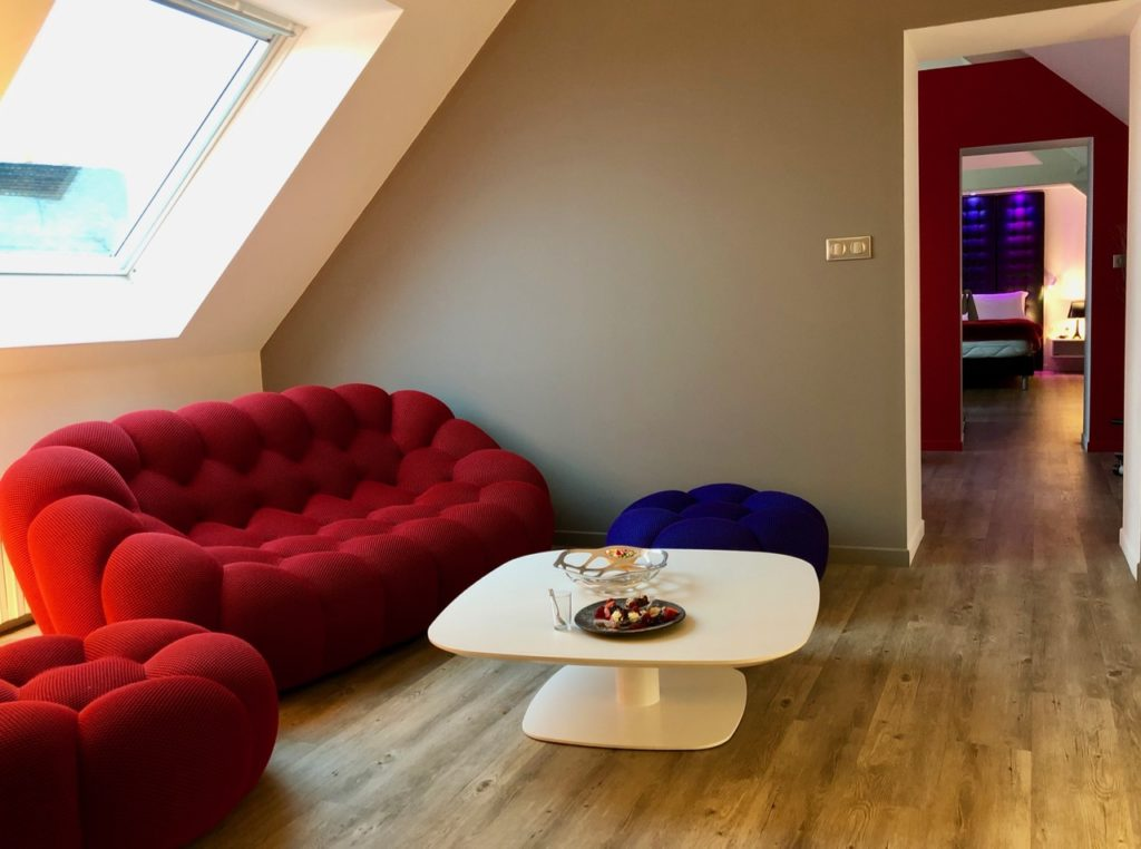 Douai La Terrasse suite Marcelline salon