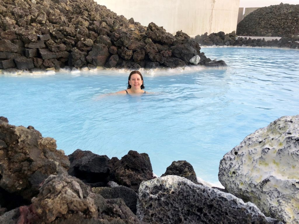 Islande Blue Lagoon Anne dans eau