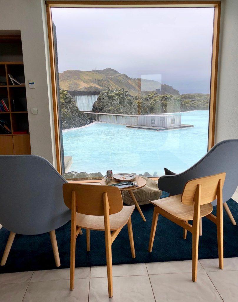 Islande Blue Lagoon Silica Hotel vue lagon privé