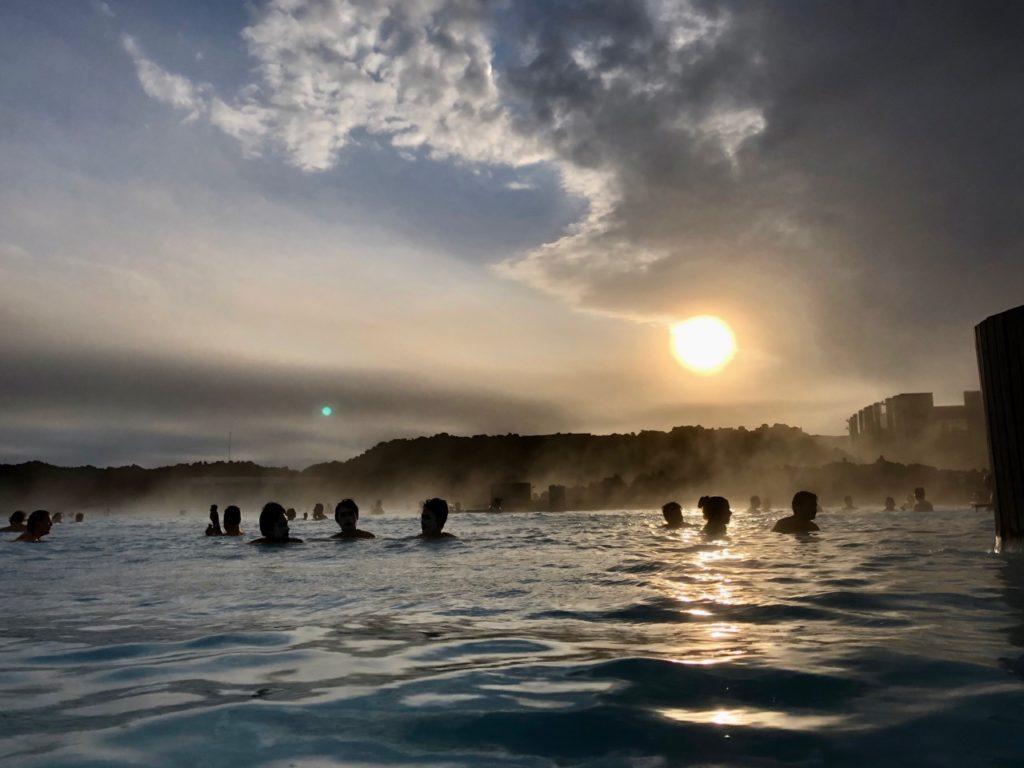 Islande Blue Lagoon coucher soleil
