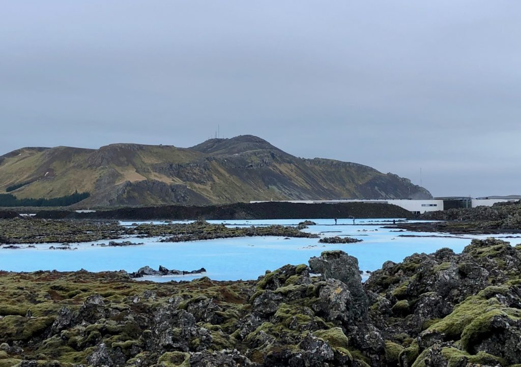 Islande Blue Lagoon paysage avant arrivée