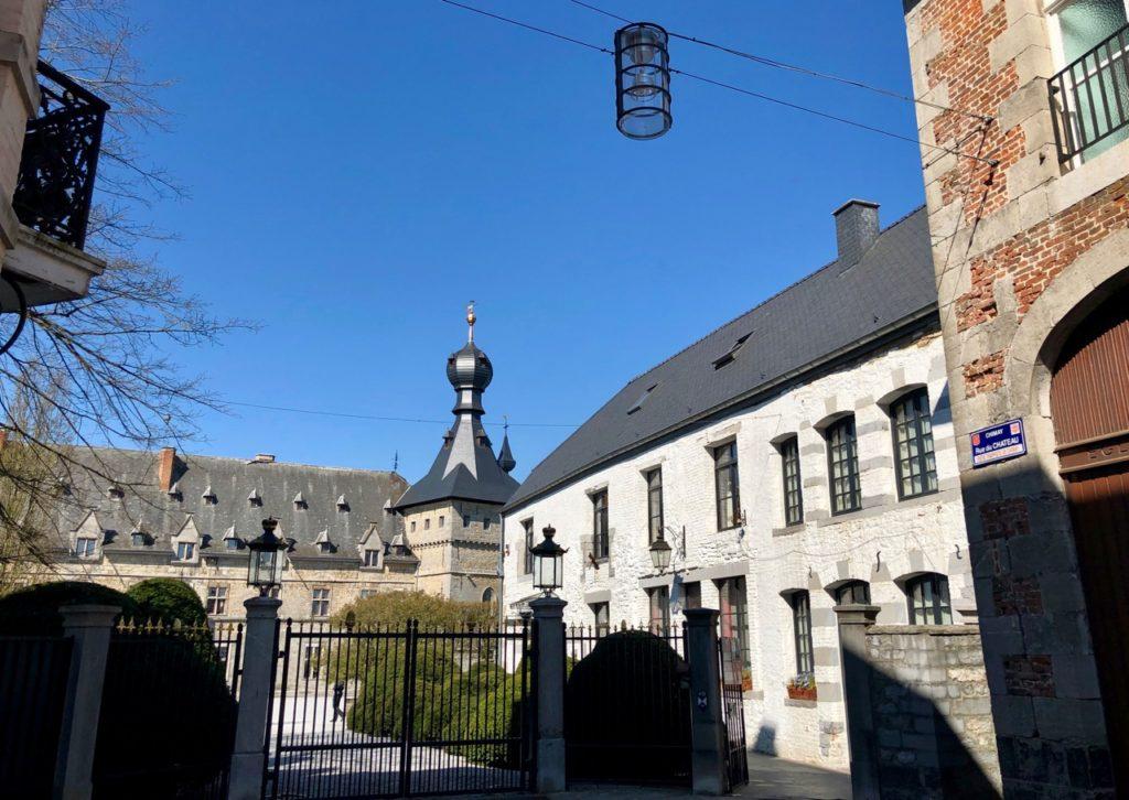 Belgique château chimay entrée
