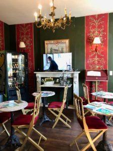 Belgique château Chimay salon thé