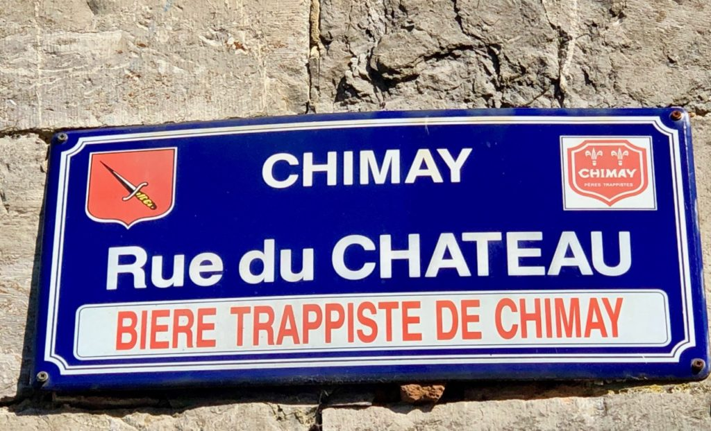 Belgique Chimay rue du Château panneau