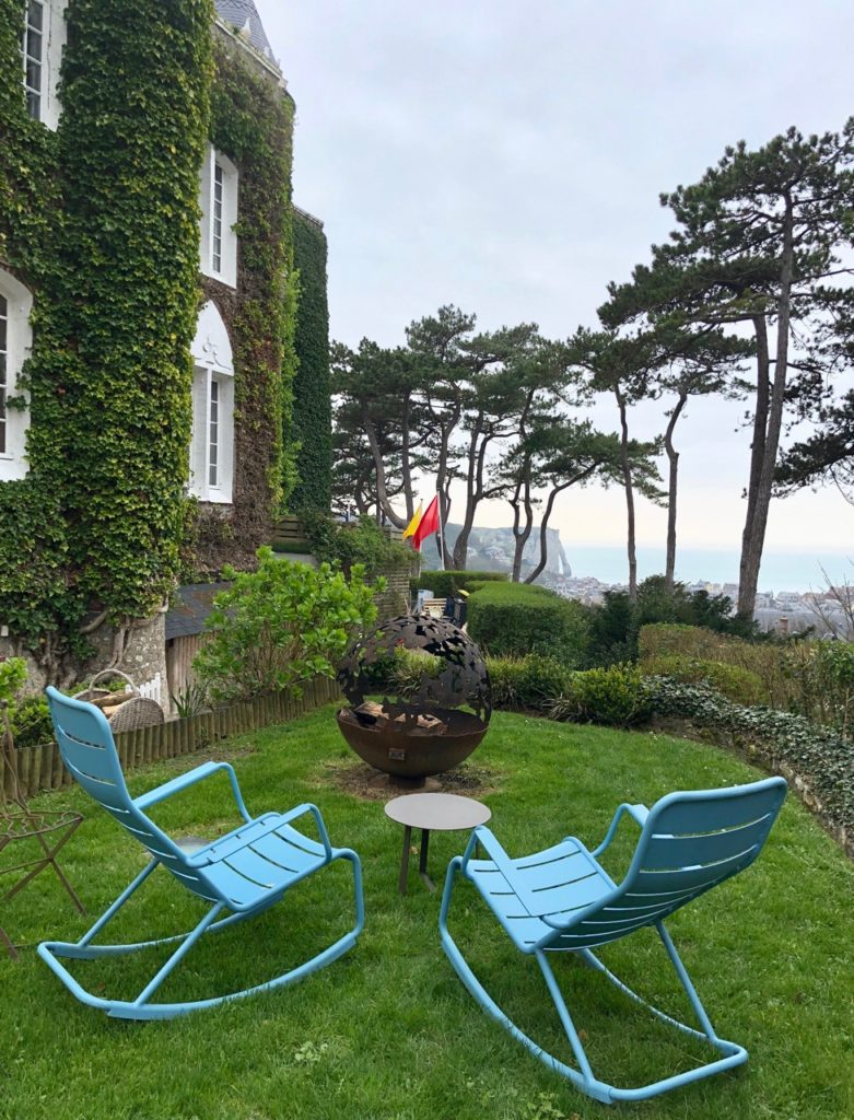Etretat hotel Le Donjon jardin