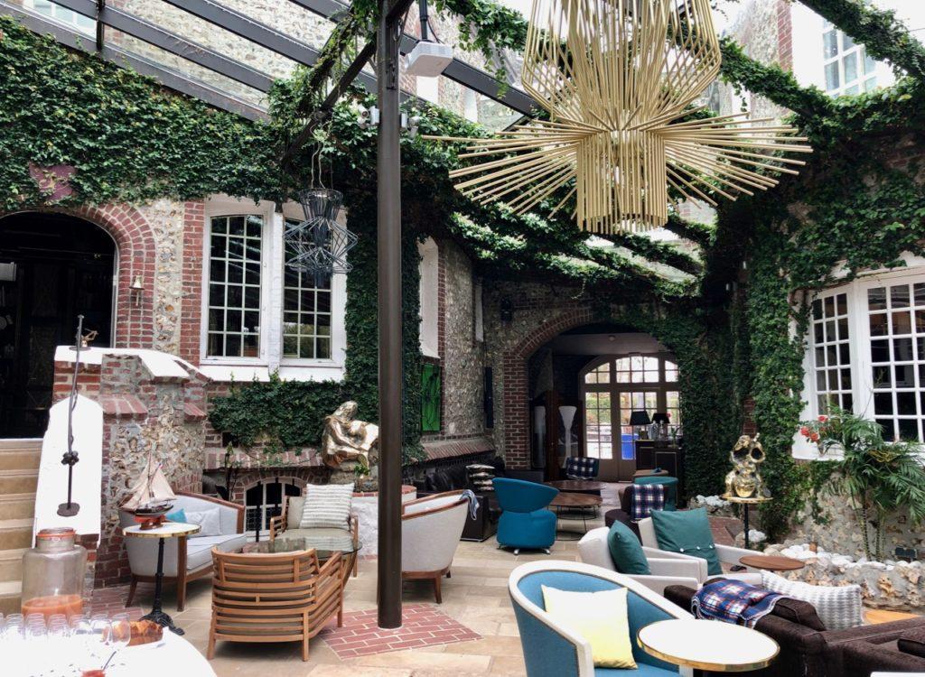 Etretat hotel Le Donjon véranda