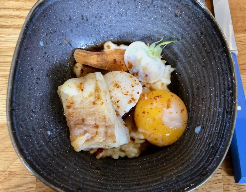 Etretat restaurant Bel Ami plat poisson