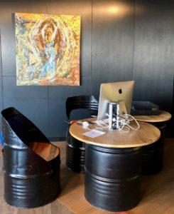 Le Havre hotel Mercure mobilier métal