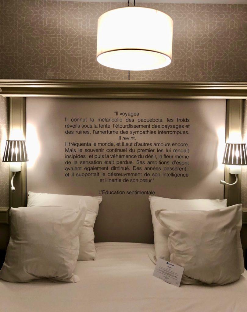 Rouen Hotel Flaubert lit
