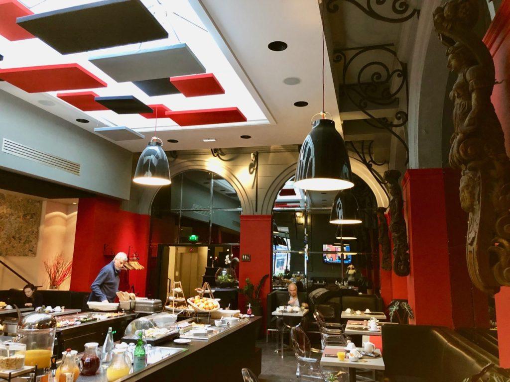 Rouen hotel bourgtheroulde salle petit déjeuner