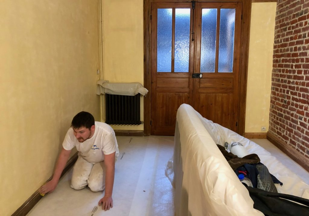 Salon chantier peinture