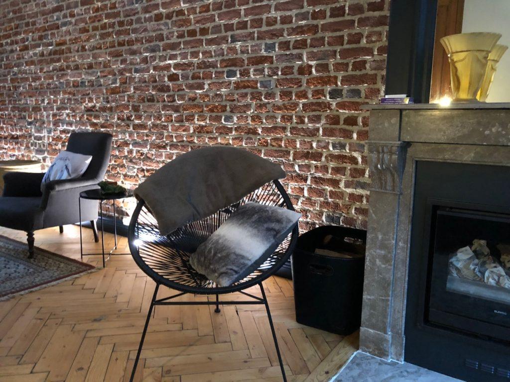 Salon fini fauteuil rond
