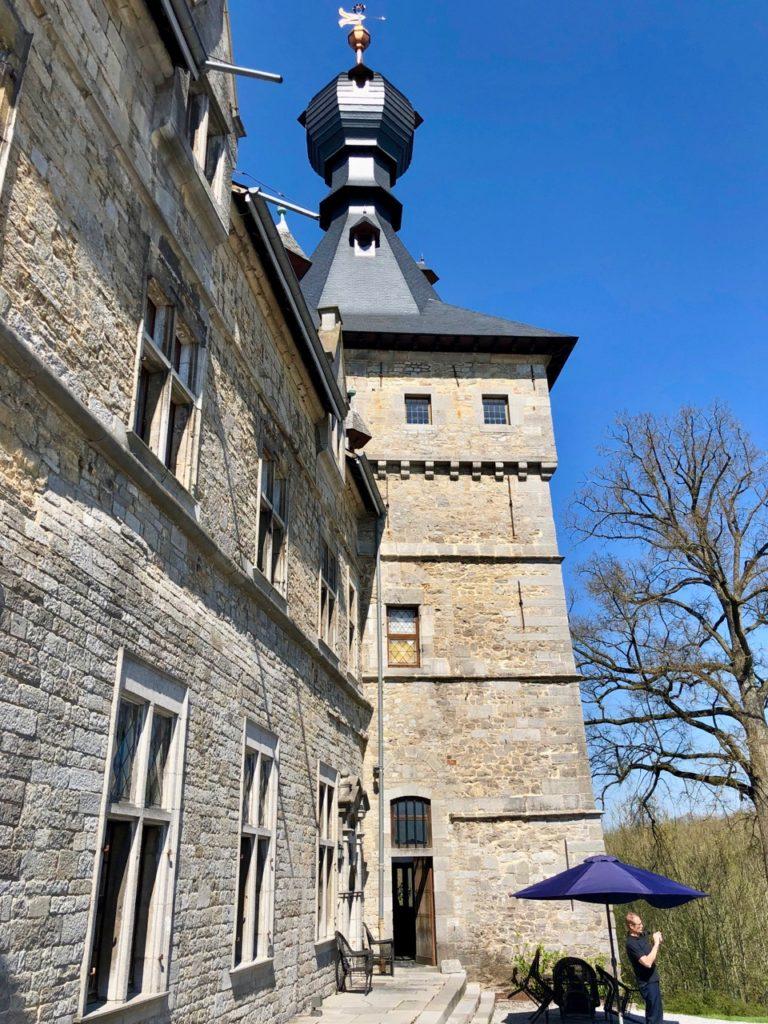Belgique chateau Chimay chapelle exterieur