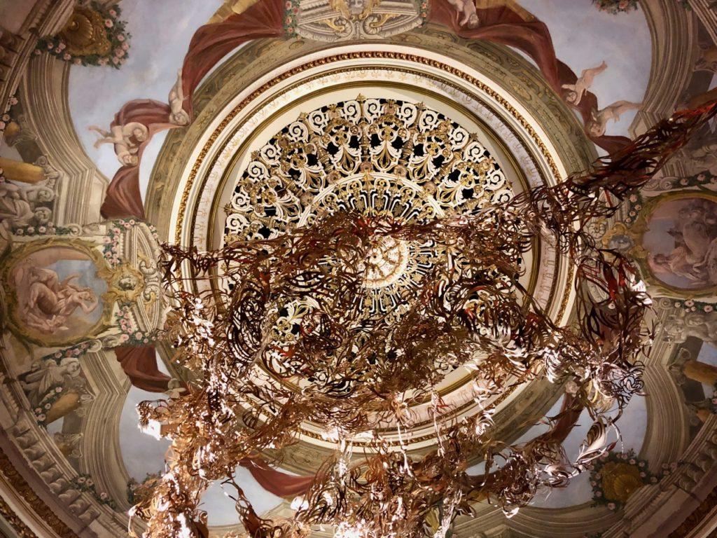 Belgique château Chimay théâtre plafond