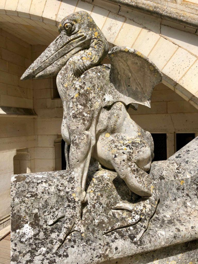 Chateau de Pierrefonds statue pelican