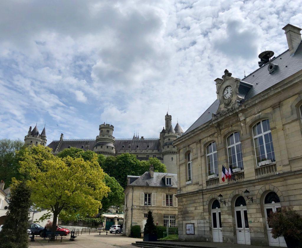 Chateau de Pierrefonds vu de la ville