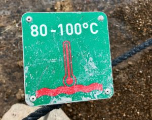 Islande cercle or Geysir temperature eau