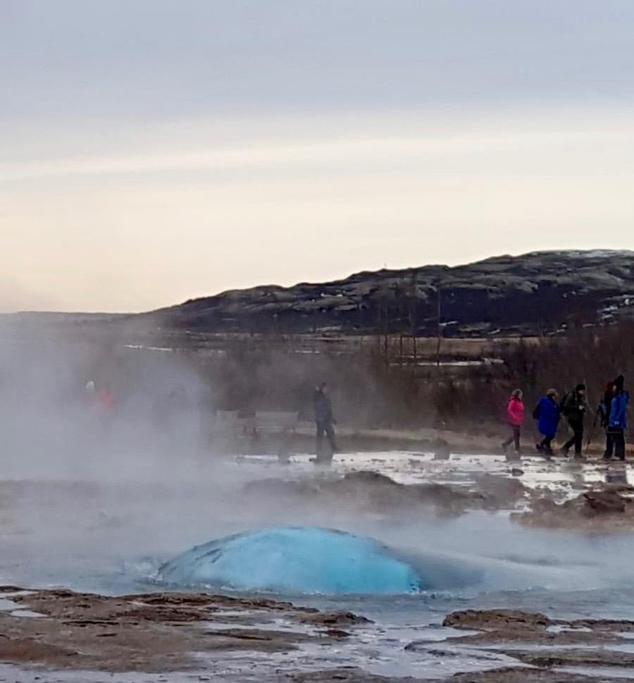 Islande cercle or geysir strokkur un