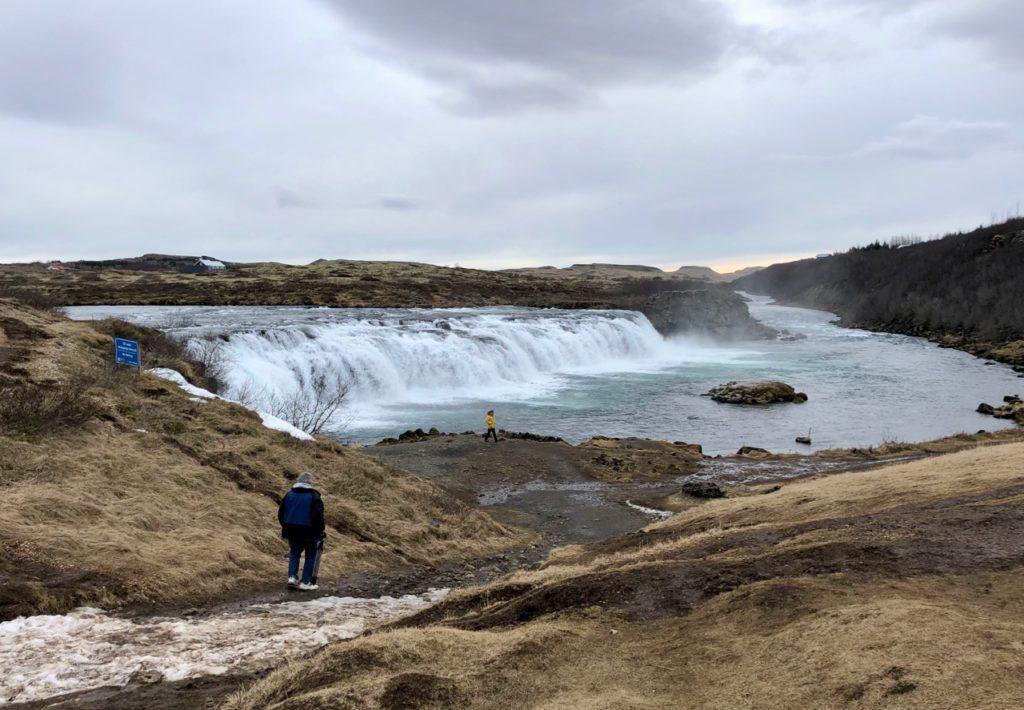 Islande cercle or gullfoss vu loin