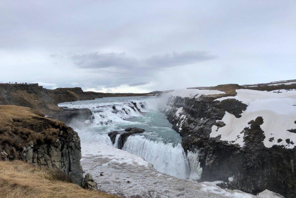 islande cercle or gullfoss ravin