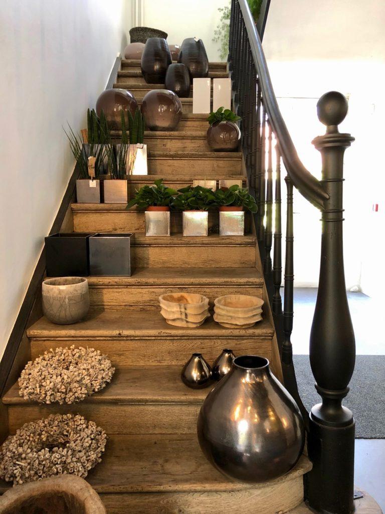 Malines restaurant boutique Stassart escalier