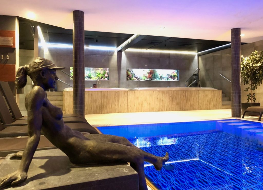 Thermes Dilbeek piscine froide statue