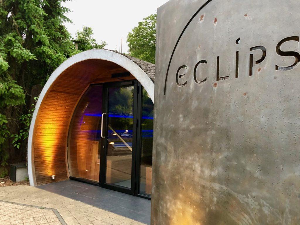 Thermes Dilbeek sauna Eclips extérieur