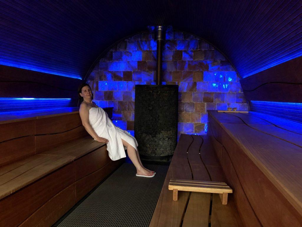 Thermes Dilbeek sauna Eclips intérieur
