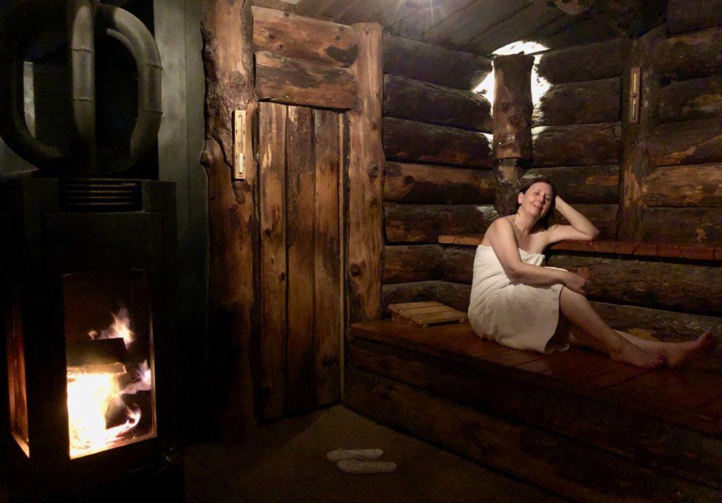 Thermes Dilbeek sauna feu de bois