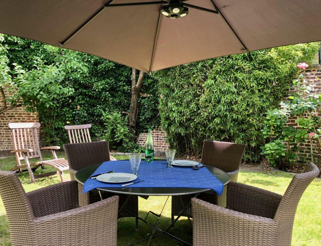 Mon jardin table dressée