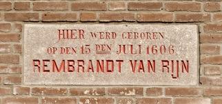 Leyde-plaque-maison-natale-Rembrandt