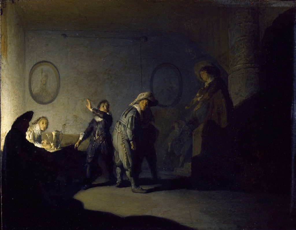 Museum-de-Lakenhal-Rembrandt-Interior-with-Figures-National-Gallery-Ireland-Dublin