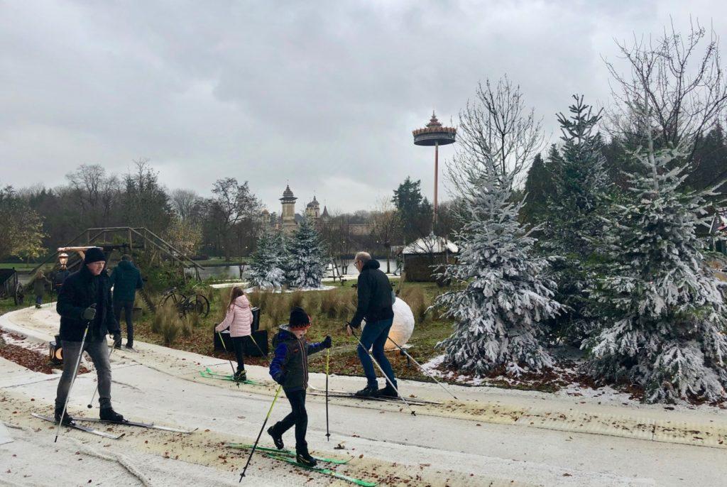 Parc-Efteling-ski-de-fond-deux