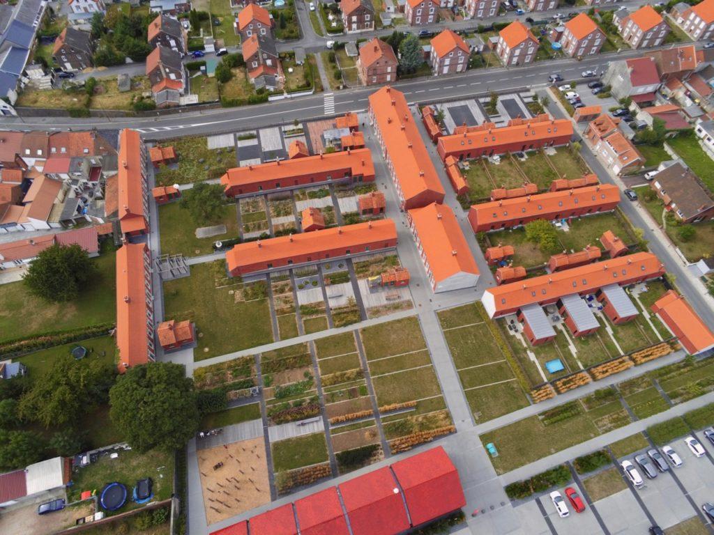 Cité des Electriciens Bruay vue au drône
