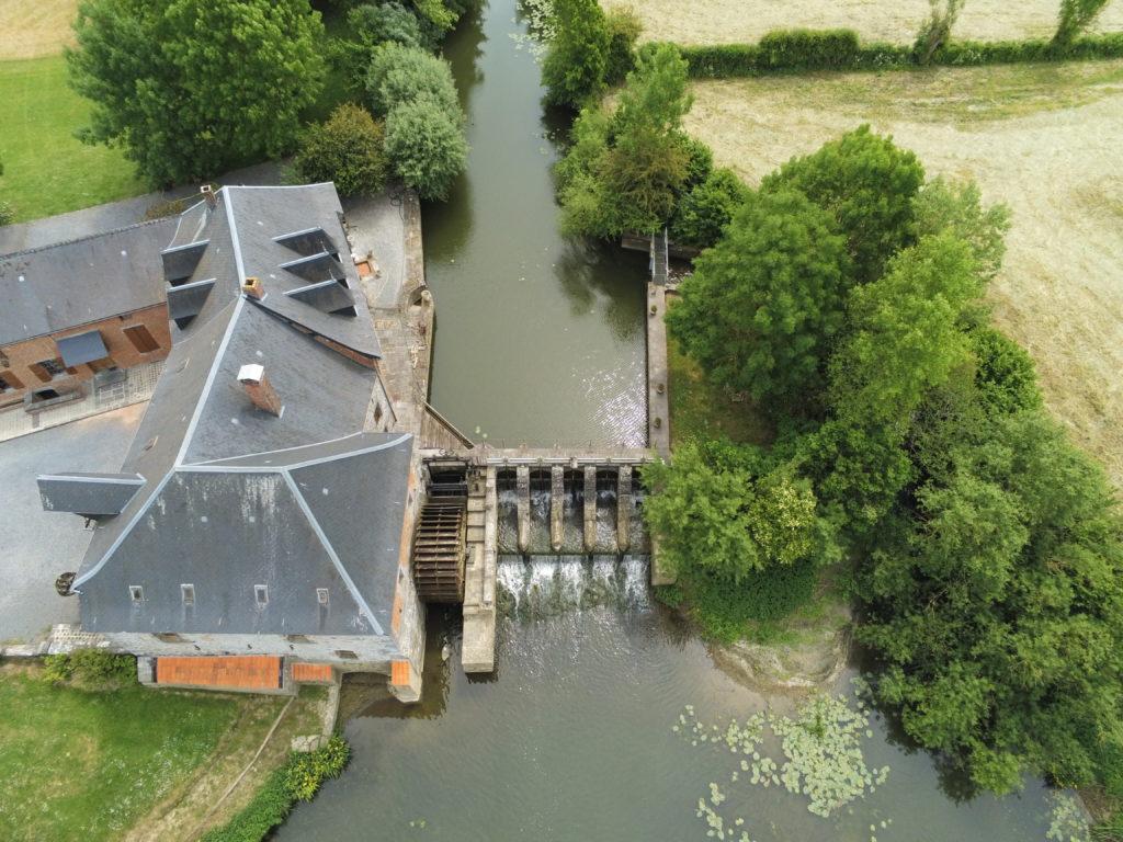 Moulin Maroilles vu au drone de dessus