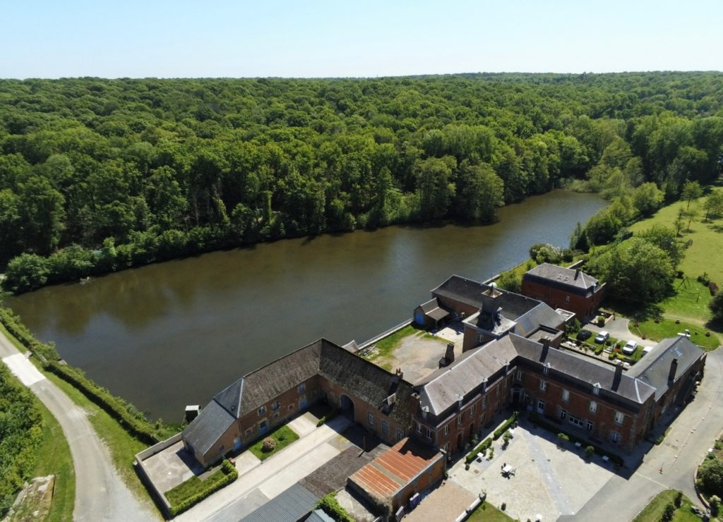 Liessies chateau de la Motte vu au drone