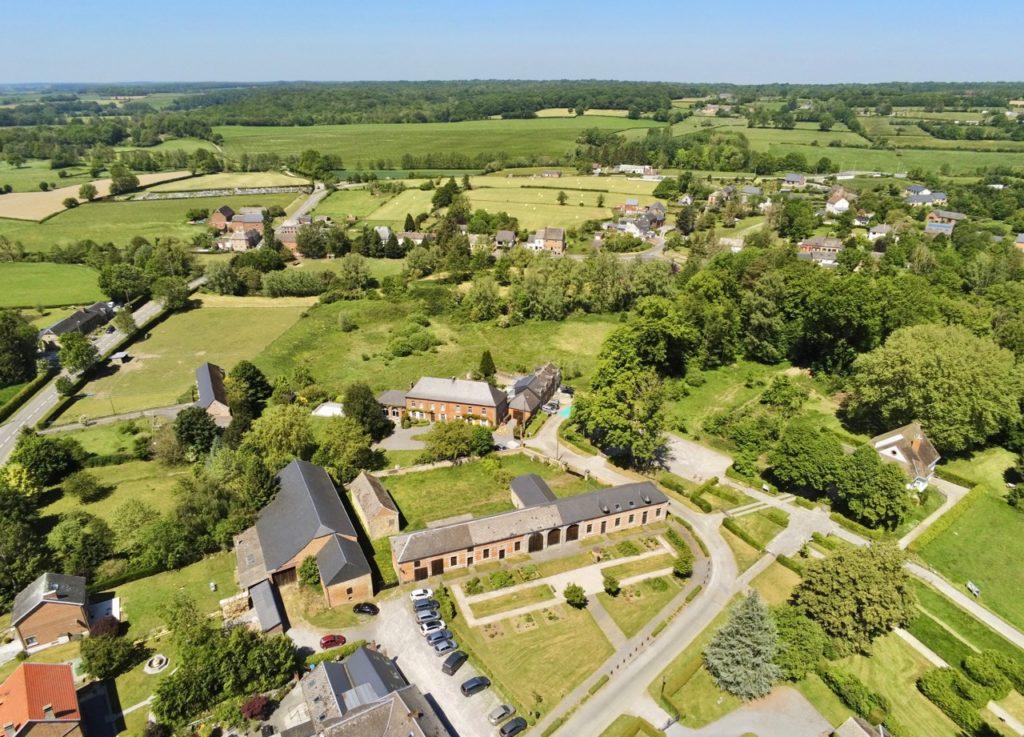 Liessies nord abbaye vue au drone