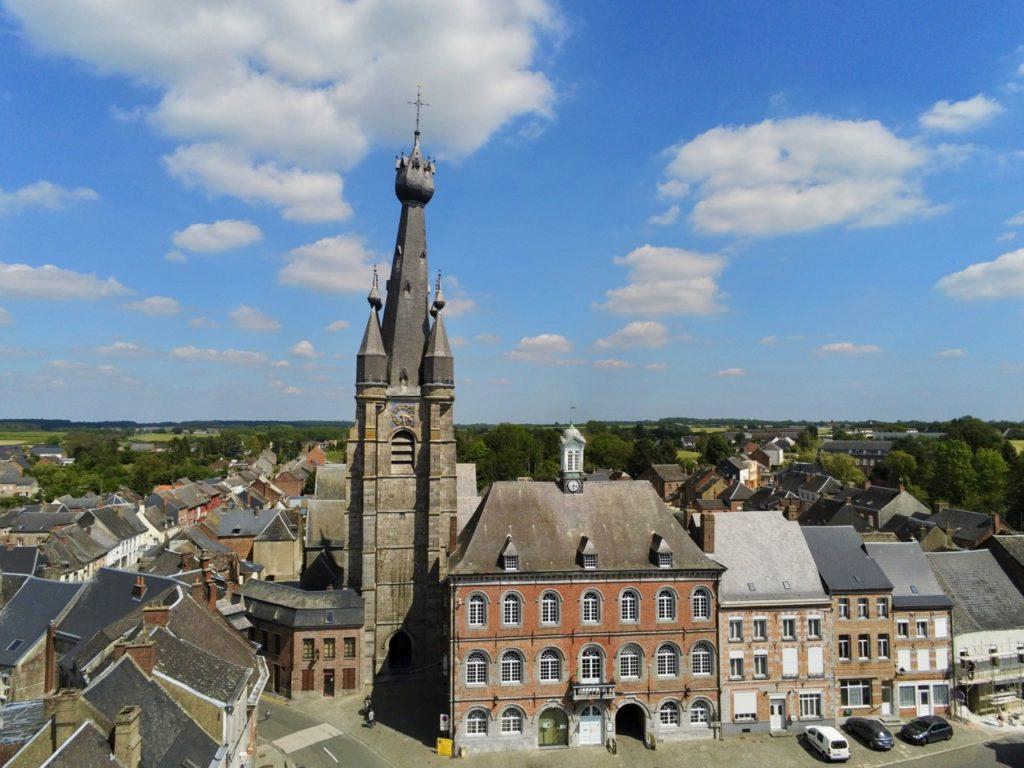 Eglise Solre le Château vue de haut