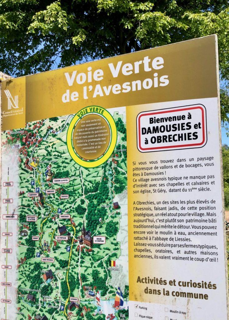 Voie-verte-de-l-Avesnois-panneau-damousies-et-obrechies