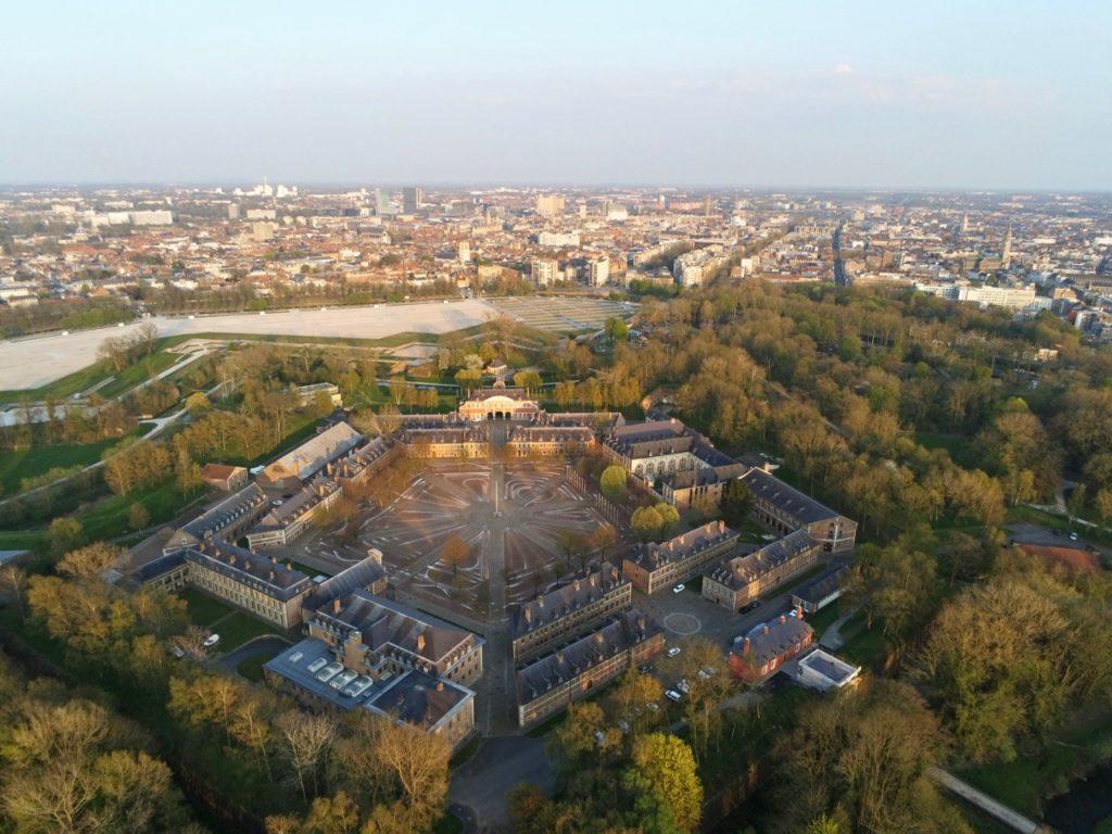 La Citadelle de Lille vue au drone