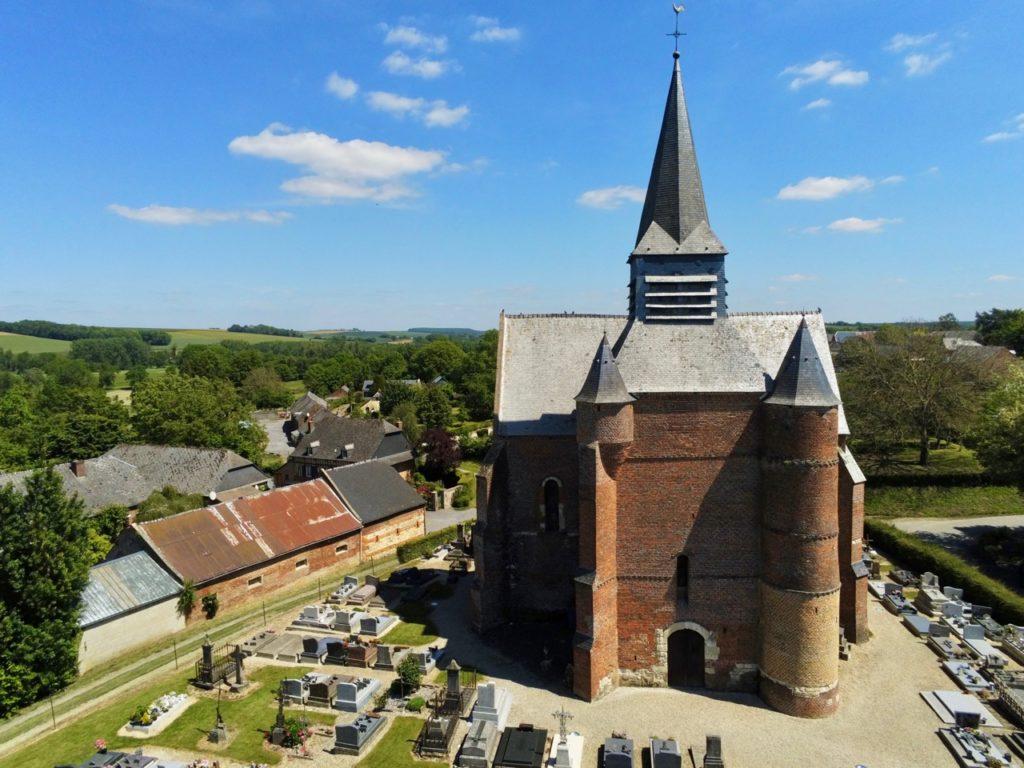 Eglise Saint-Martin Burelles vue avant