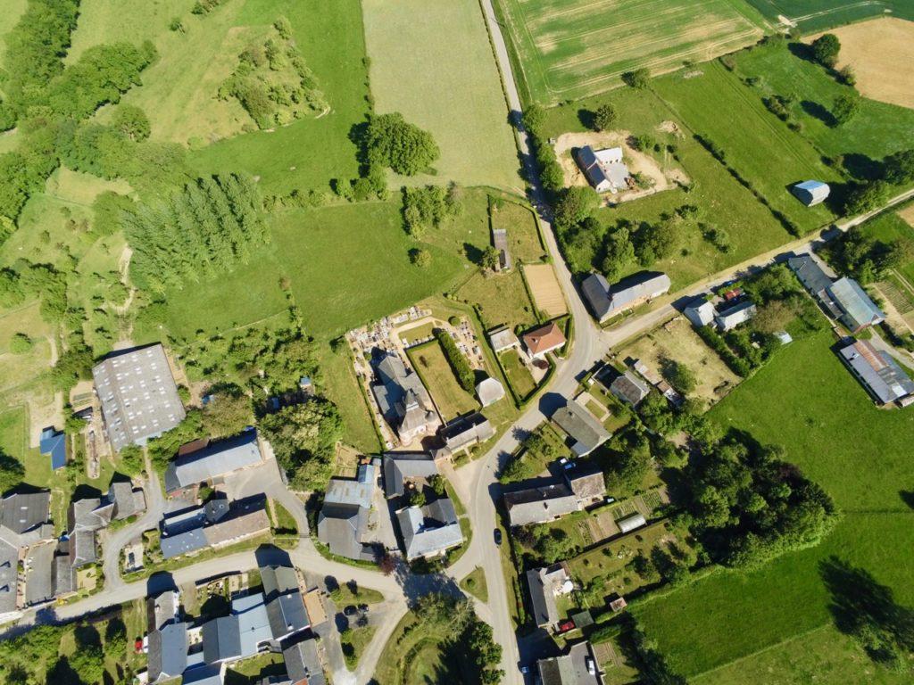 Parfondeval Aisne vu au drone