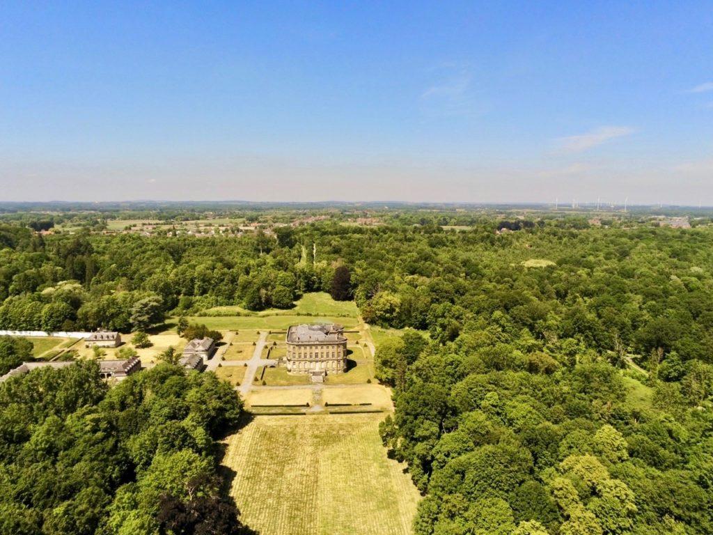 Château de l'Hermitage de Condé-sur-l'Escaut vu au drone