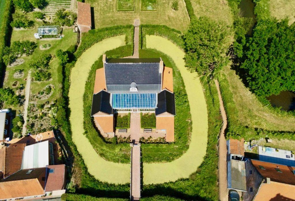 Rubrouck mairie vue au drone