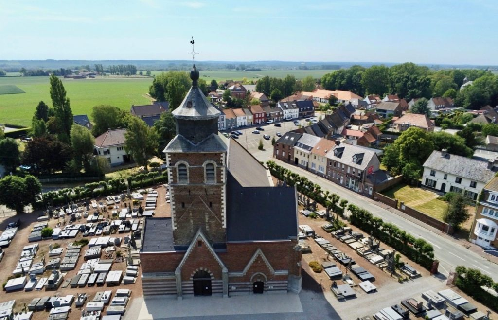 Eglise de Renescure vue au drone