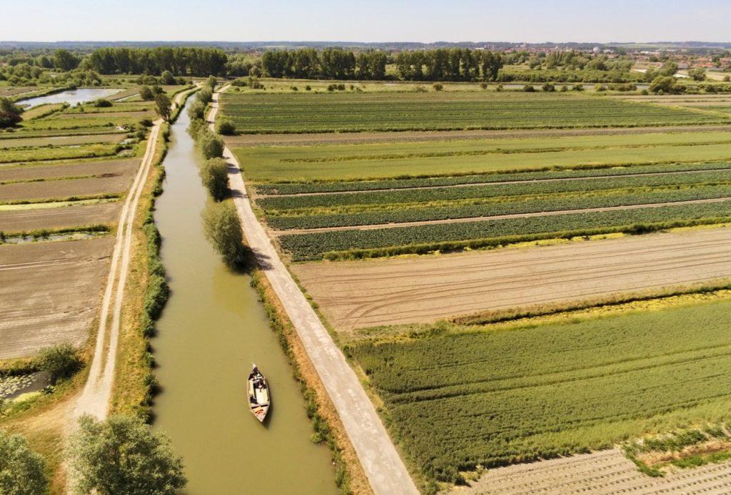 Marais audomarois Isnor champs vus haut