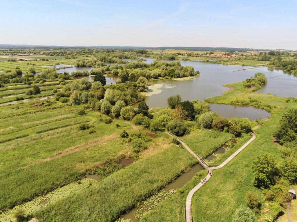 Marais audomarois Isnor marais du Romelaere drone