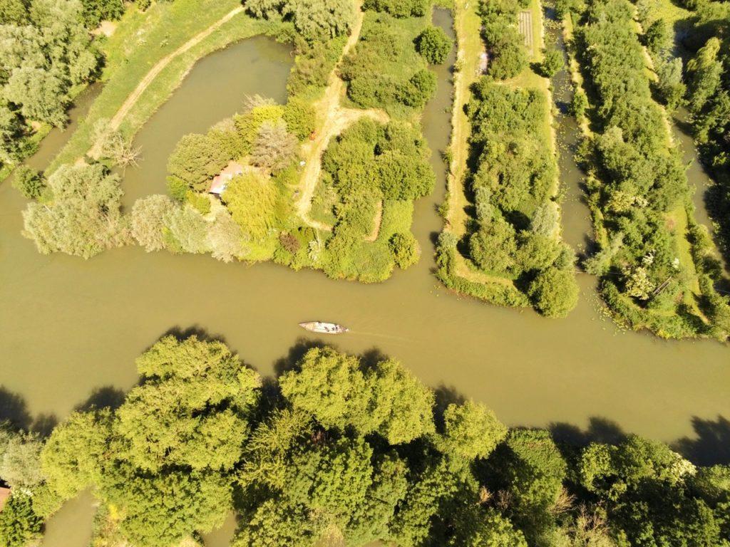 Marais audomarois Isnor vu au drone