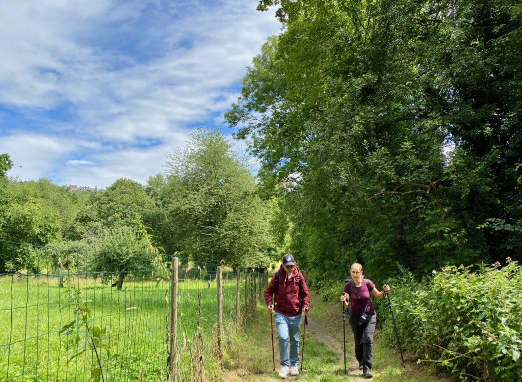 Semaine Z'Aisne marche nordique en chemin